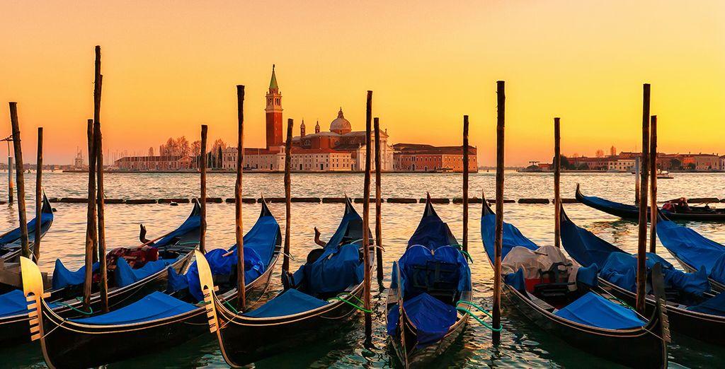 Hop on a gondola at sunset...