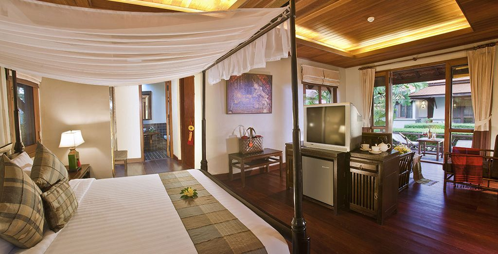 Some stays receive an upgrade to an Oriental Villa
