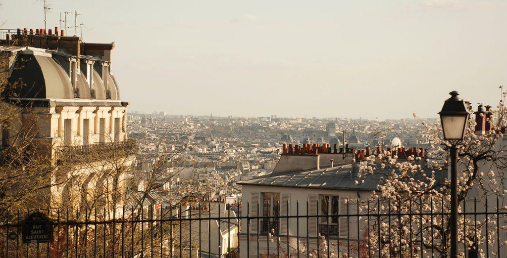 In the bohemian Montmartre district of Paris