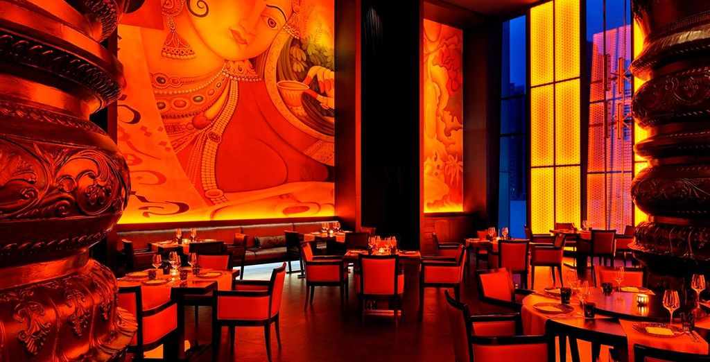 Then dine in one of the stylish restaurants as night falls