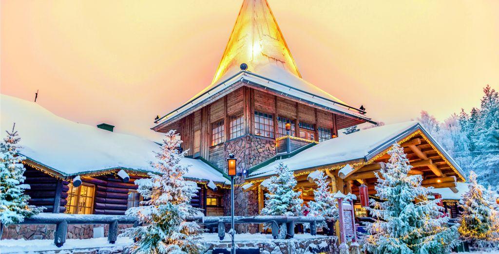 Visit nearby Santa Claus village...
