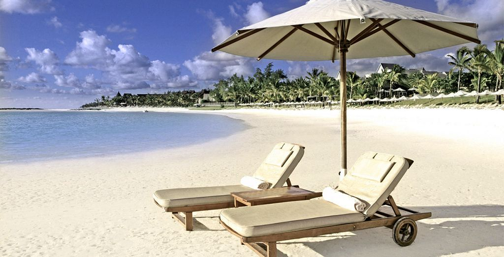 Relax on the pristine beach