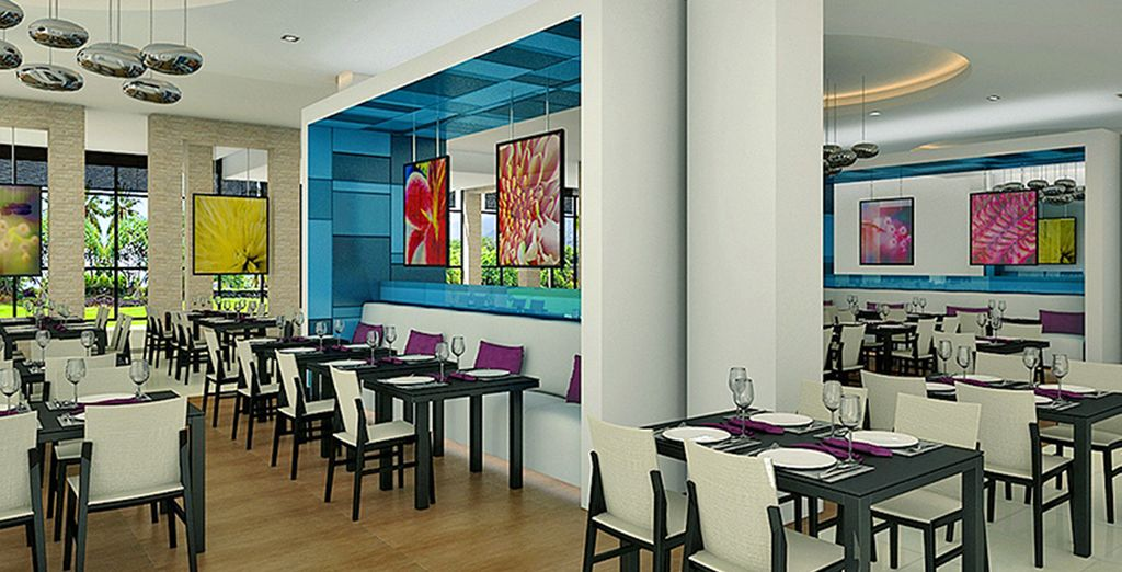 In this stylish modern hotel