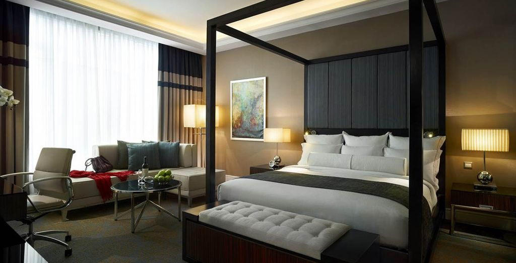 You'll be upgraded to a Tower Wing Junior Suite