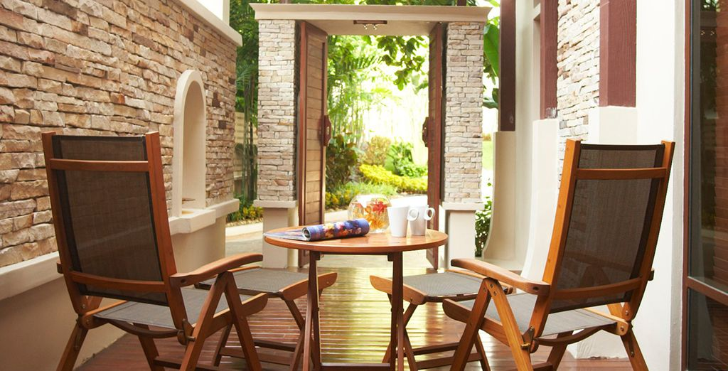 Relax in your outdoor patio