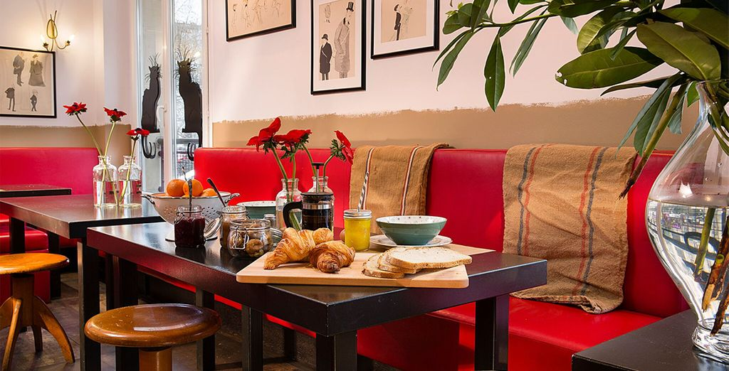 Our offer includes daily breakfast, so fill up on croissants...