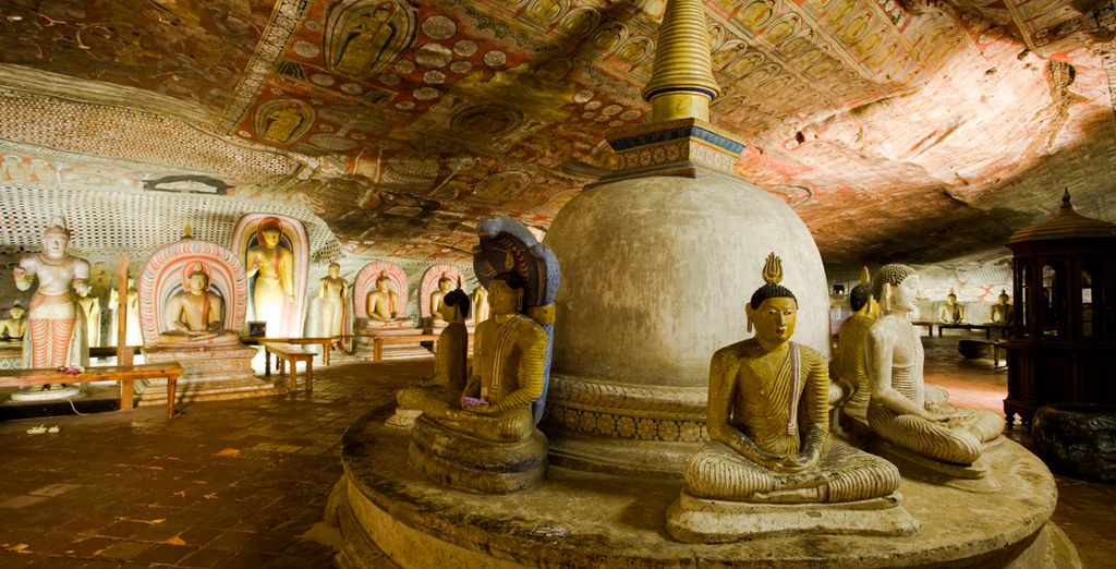 See incredible sights like the fascinating cave temples in Dambulla