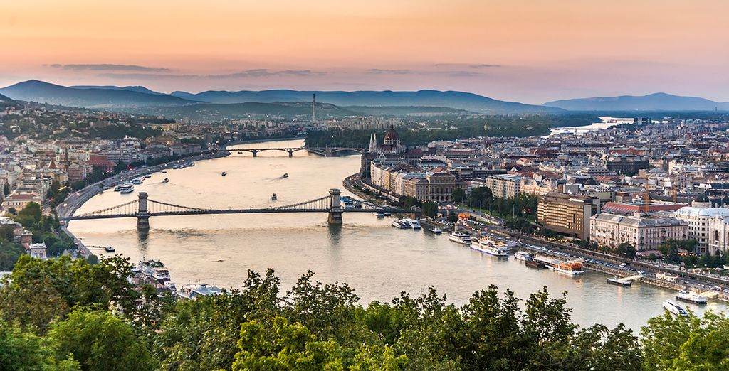 Which enjoys beautiful views of the Danube