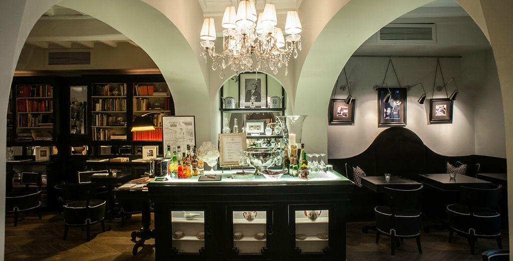 Return for a drink at the stylish bar