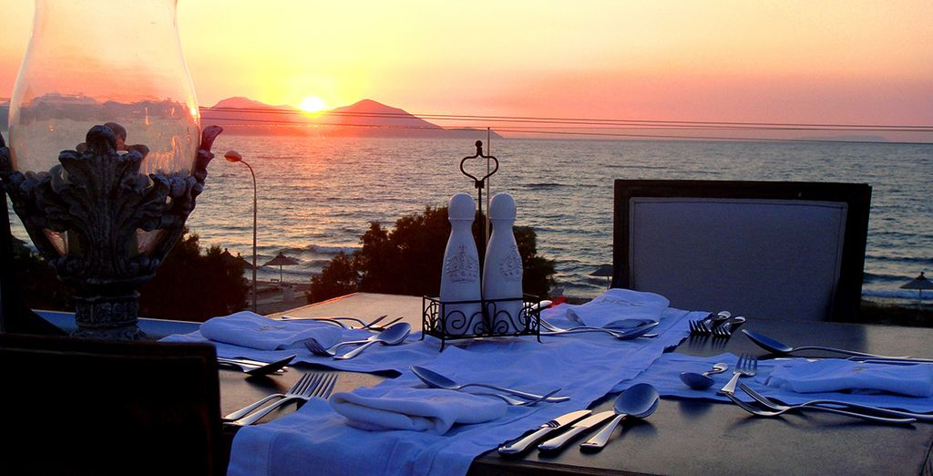 End the day with a romantic dinner - half board dining is included