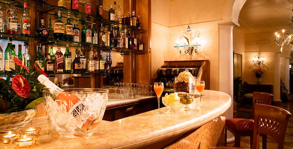 Head to the bar for a pre dinner aperitif
