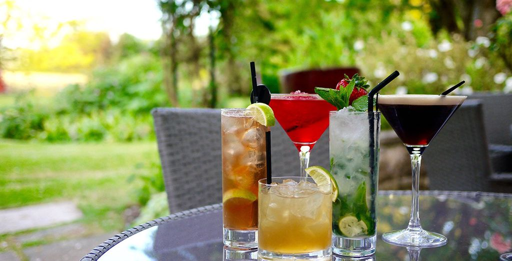 Sip cocktails in the courtyard in summer months
