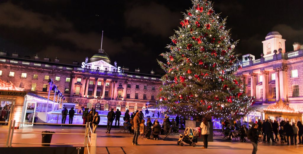 You can go ice skating at Somerset House
