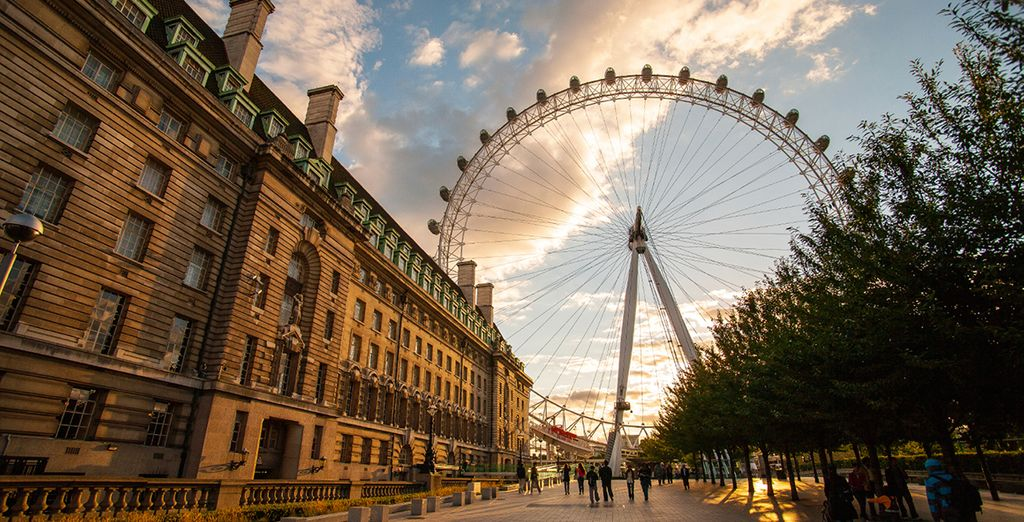 The London Eye is just moments away...