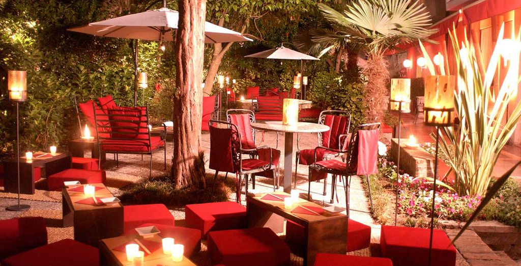 Which is transformed into a romantic spot at night