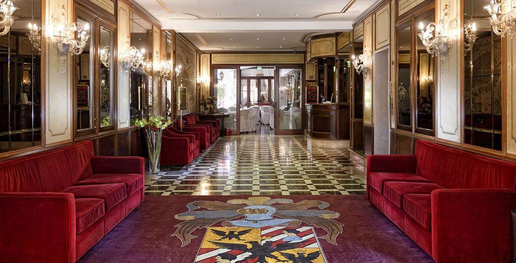 With glamorous interiors