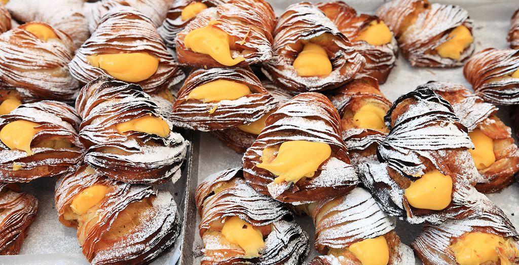 The delicious sweet treat of the Sfogliatella