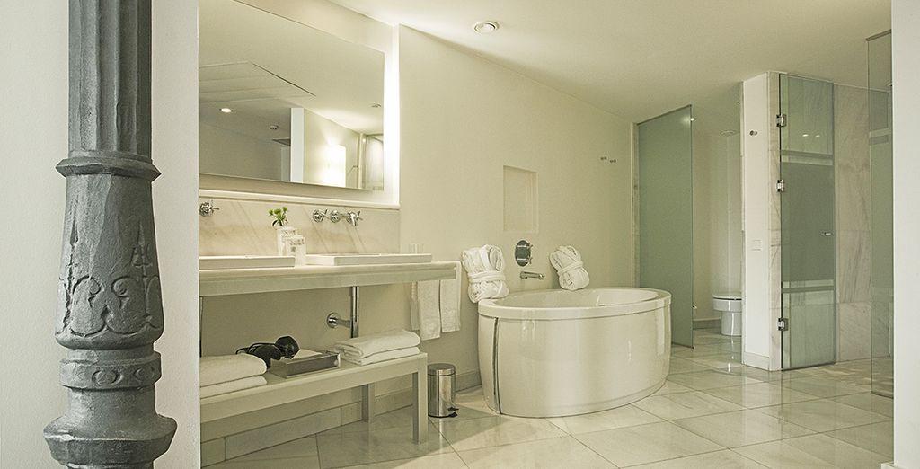 Complete with super sleek bathroom