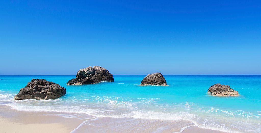 Wander down to the stunning beach