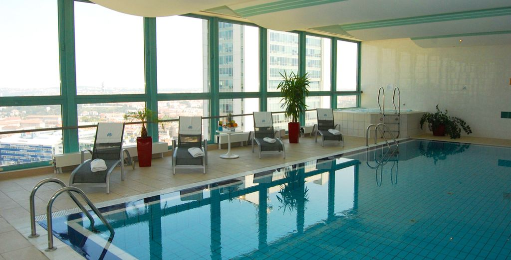 Enjoy a swim in the pool to relax after sightseeing