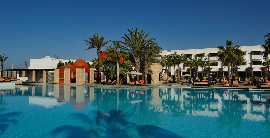 Take a dip in the huge pool