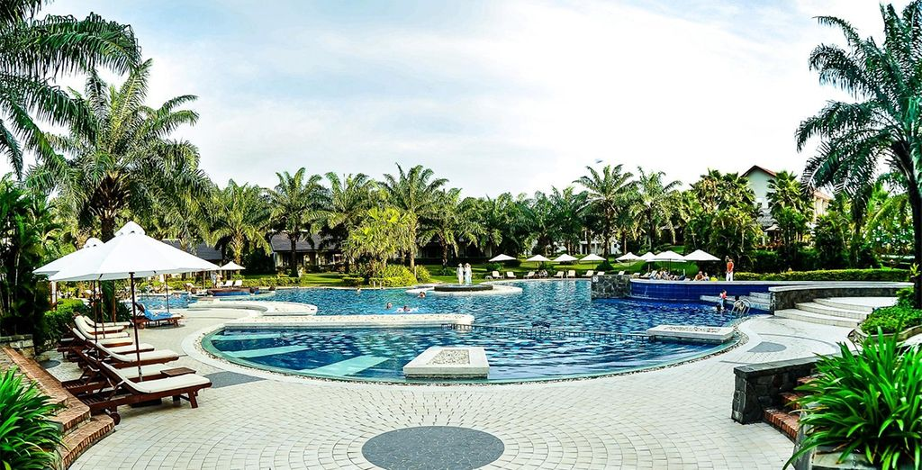 Choose between 3*, 4* or 5* hotels throughout (pictured: The Palm Garden Resort 5*)
