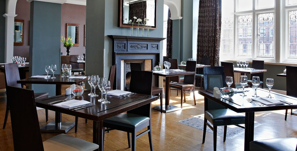 Soak up the traditional English decor and relish the elegant atmosphere