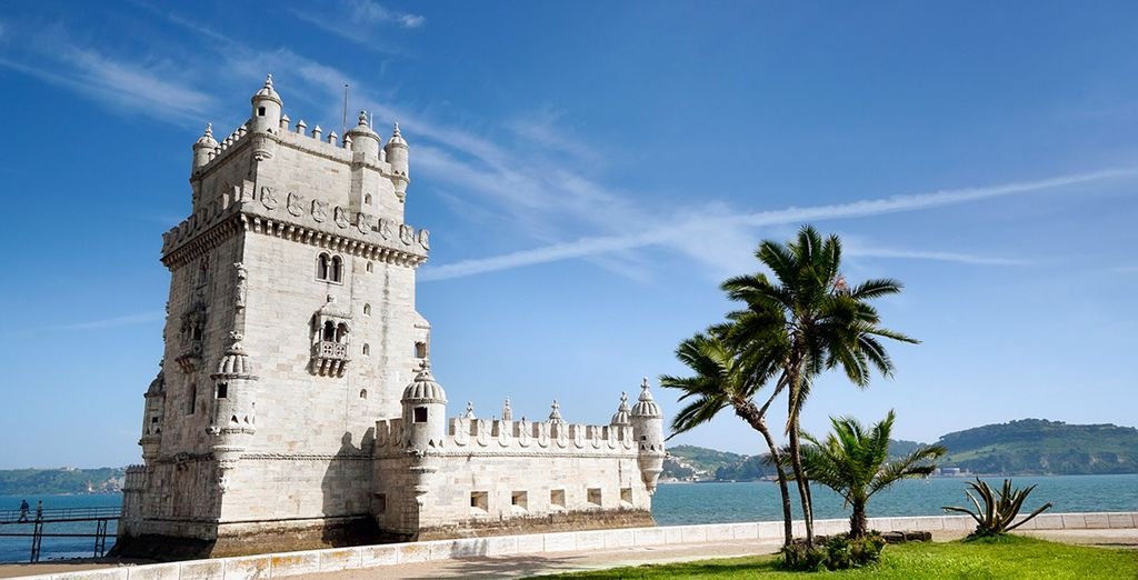Then set out to explore the city's famous sights...(Belem Tower)