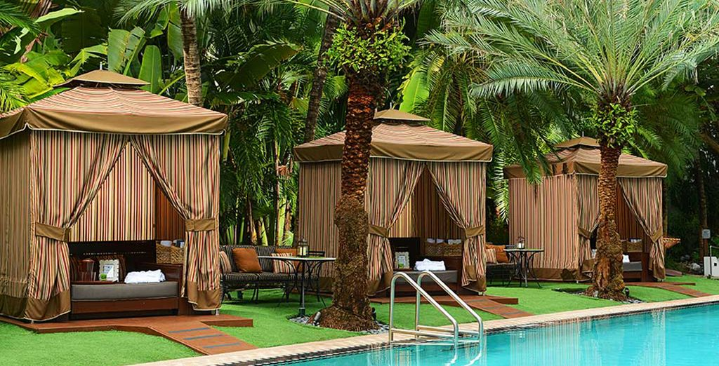 Indulge in a massage in the cabanas by the pool