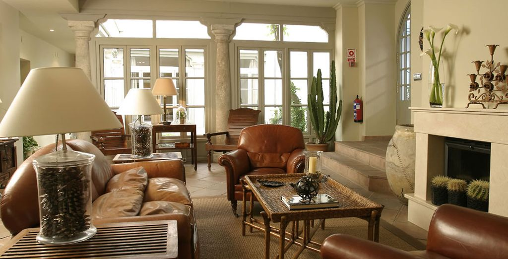 And features stylish, intimate areas to relax