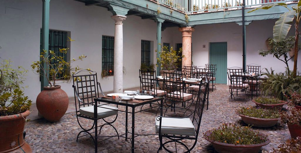 This traditionally styled hotel is set around a charming courtyard
