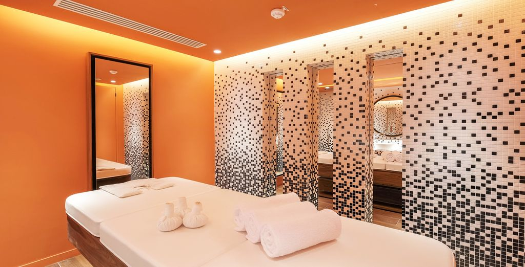 In the hotel's specialised spa