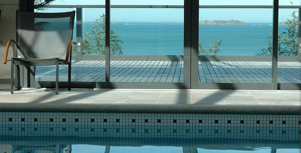 Featuring an indoor pool with views towards the coast