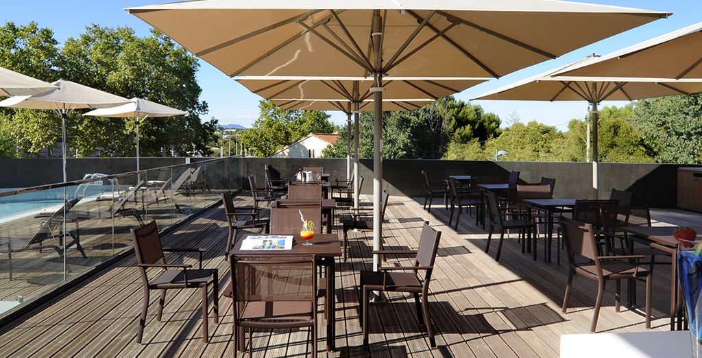 Chill out on the terrace if the sun shines
