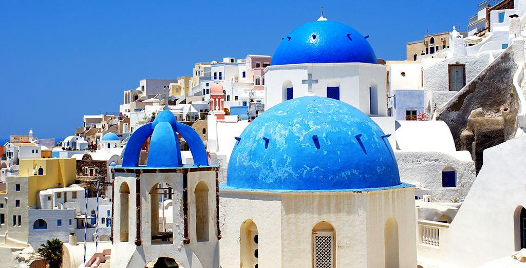 On this beautiful Greek island of Santorini