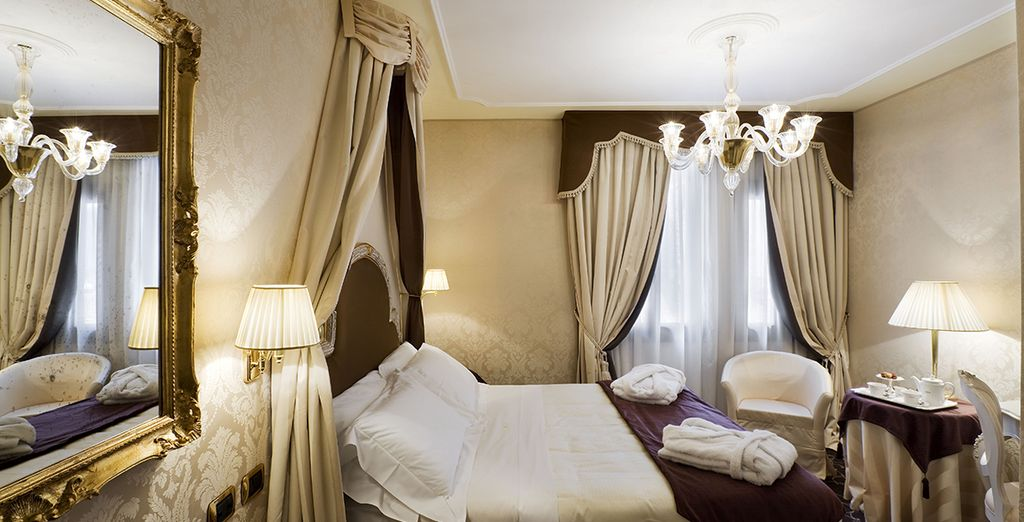 Where rooms feature refined decor