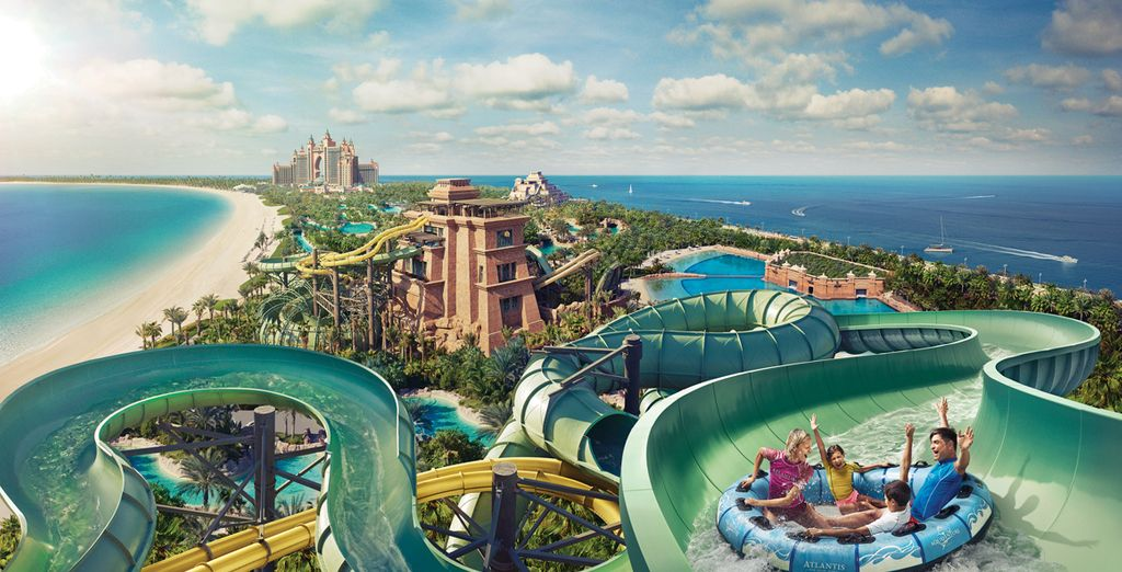 Take the kids to Aquaventure - the hotel's own award winning waterpark