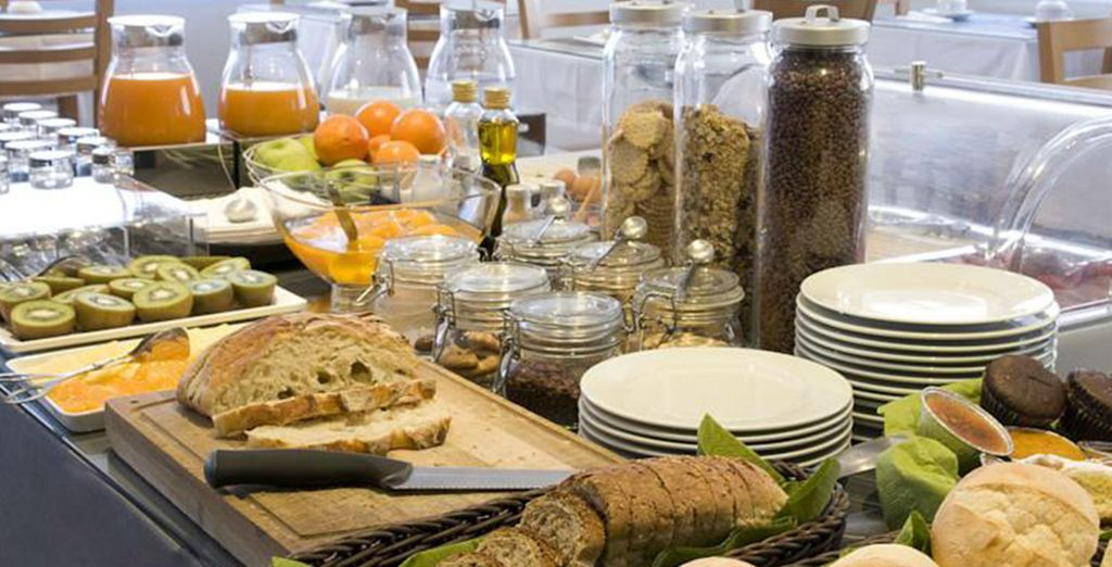 Enjoy a sumptuous breakfast each morning before exploring the city