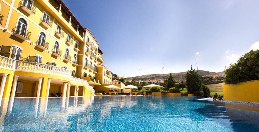 Or on the sun-dappled outdoor pool