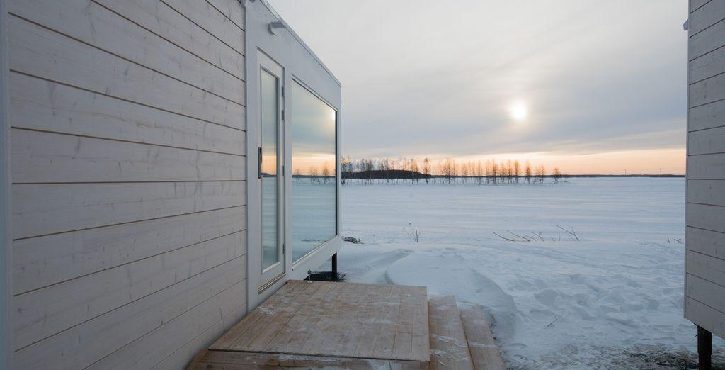 Which overlook the stunning frozen seas