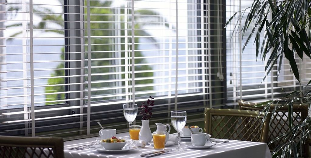 Our offer includes daily breakfast, or you can upgrade to half board dining