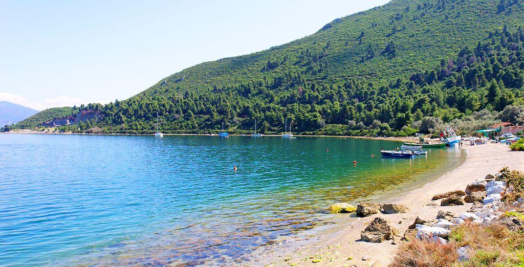 Explore some of Evia's beautiful beaches