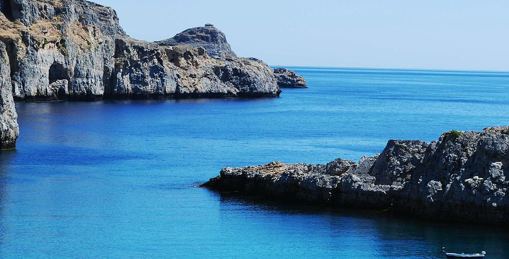 Soak up the tranquility of this Greek island