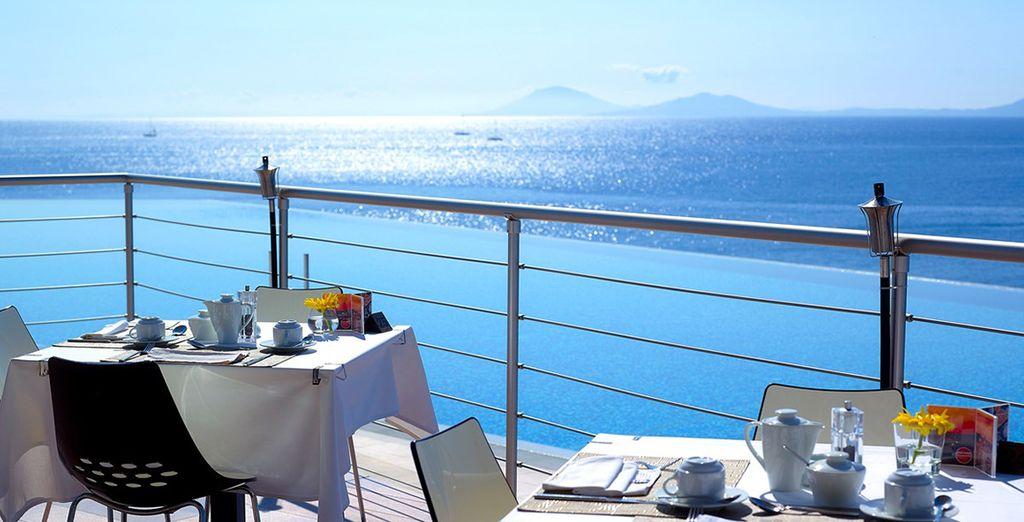 Dine overlooking the sea