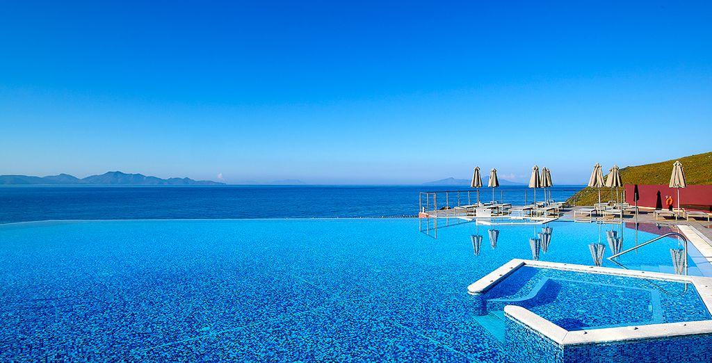 Home to a beautiful infinity pool
