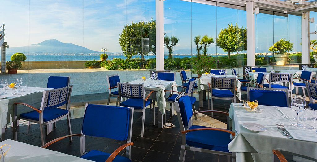 Boasting spectacular views from the terrace