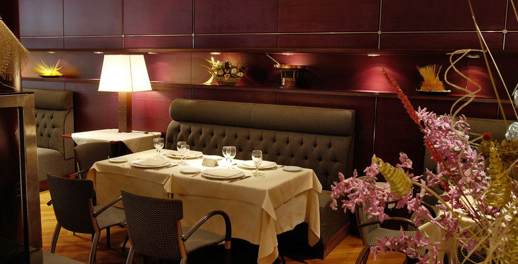 Or tuck into a meal in the sophisticated surroundings of the restaurant