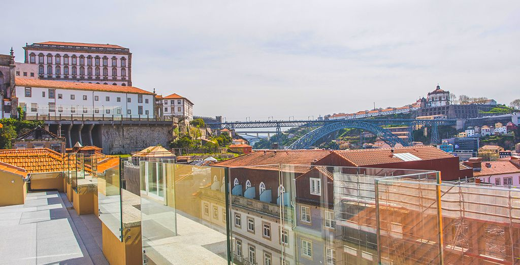 From the terrace of your hotel you can admire beautiful views of Porto...