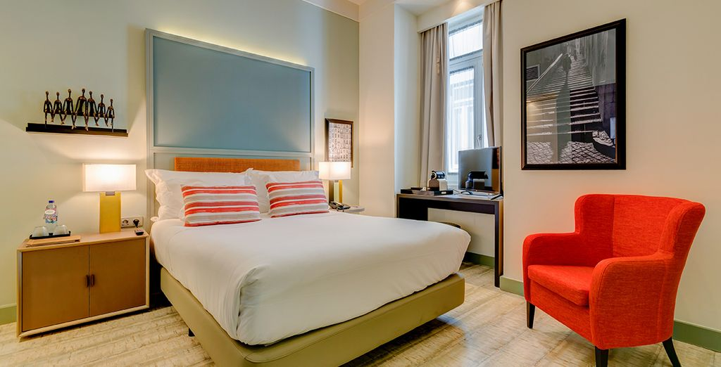 with either twin beds or a double bed, subject to availability