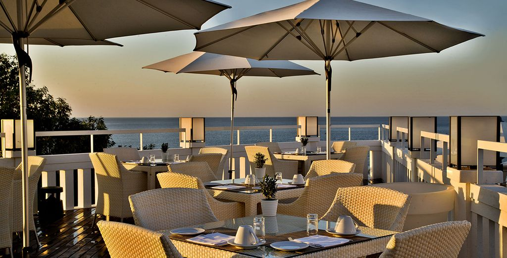 Enjoy it out on the terrace in the warmer months